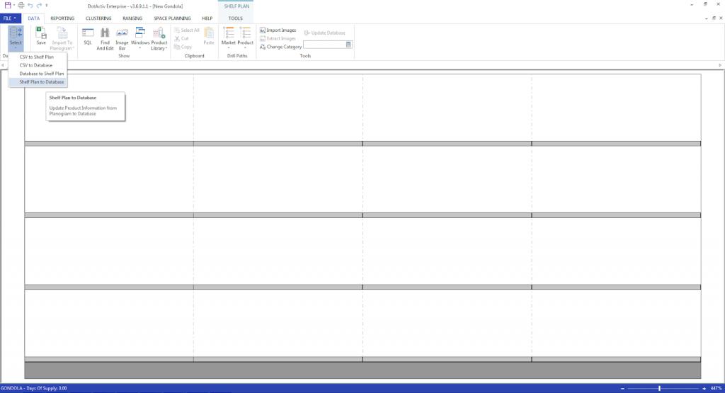 Shelf Plan to Database