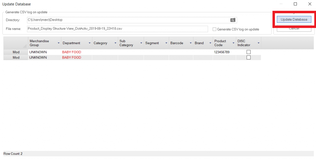 Updating Through DotActiv - Confirm Pending Charges